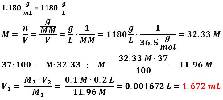 Calcoli e Risultati Preparazione