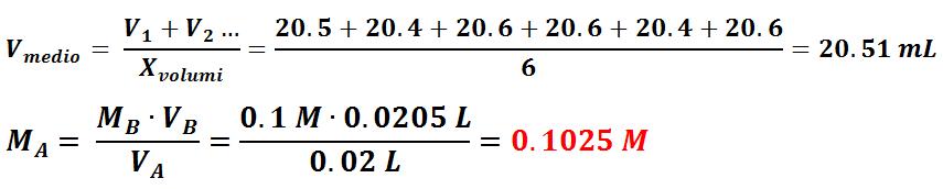 Calcoli e Risultati Standardizzazione